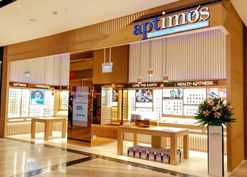 Aptimos watch shop at Jewel Changi Airport in Singapore.