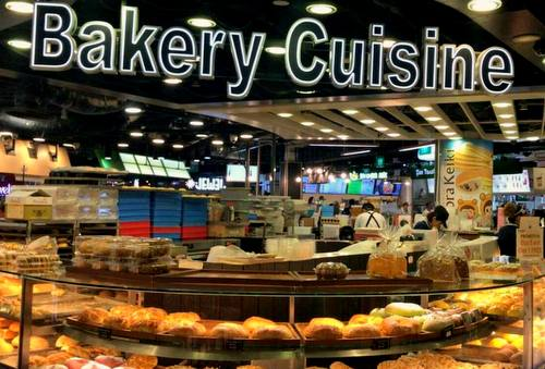 Bakery Cuisine shop at Raffles Exchange in Singapore.