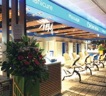 Be Relax day spa at Changi Airport Terminal 3 in Singapore.
