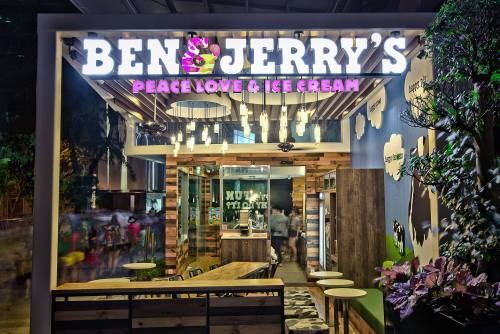 Ben & Jerry's ice cream shop at 313@Somerset mall in Singapore.