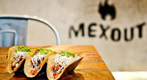 Mex Out Mexican taco food in Singapore.