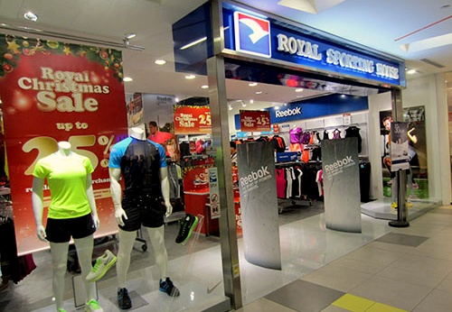 Royal Sporting House store at nex shopping center in Singapore.