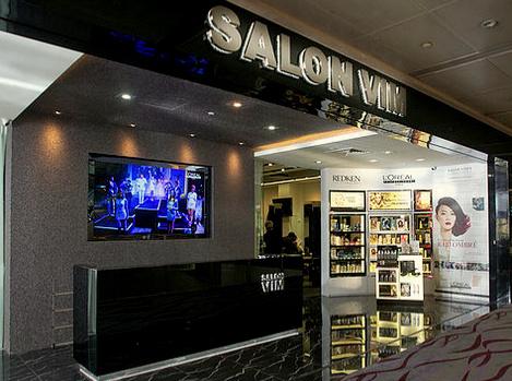 Salon Vim hair salon in Singapore.