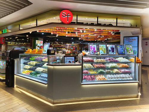 SF Fruits shop at Northpoint City mall in Singapore.
