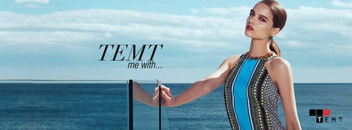 """TEMT clothing ad titled """"TEMT me with...""""."""