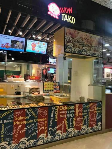 Wow Tako Japanese restaurant at AMK Hub in Singapore.