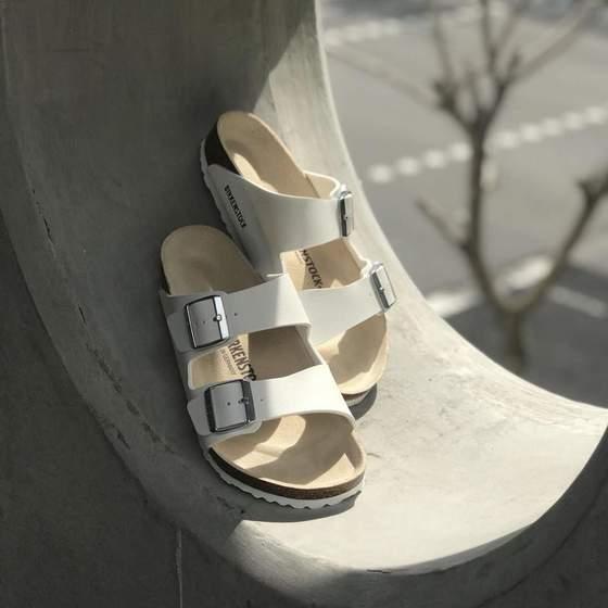 Arizona White sandals.