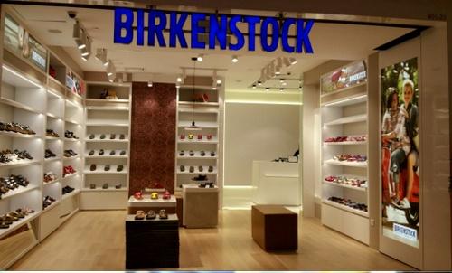 Birkenstock shoe store Velocity Novena Singapore.