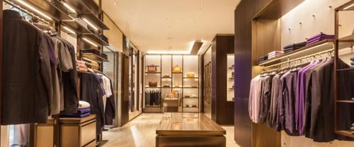 Brioni boutique Marina Bay Sands Singapore.