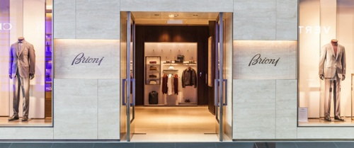 Brioni store at Marina Bay Sands in Singapore.