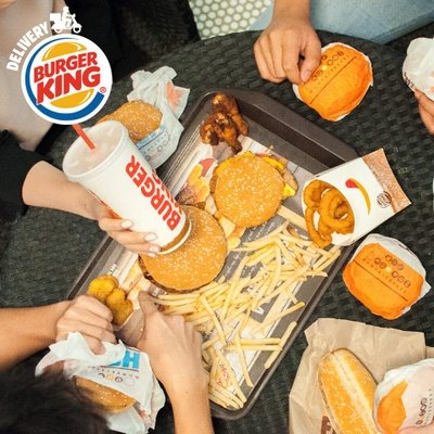 Burger King fast food delivery.