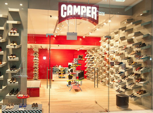 Camper shoe store at Marina Bay Sands in Singapore.