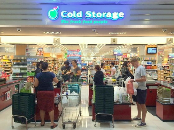 Cold Storage stores Singapore - Outlet at Parkway Parade.