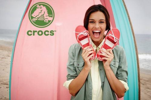 Crocs boat shoes.