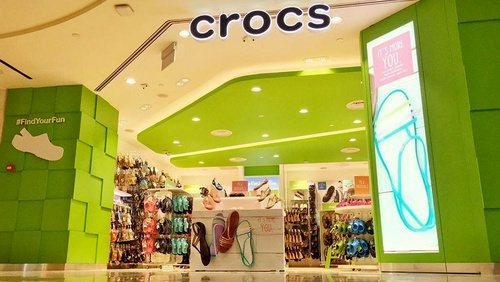 Crocs shoe store at Raffle City Shopping Centre in Singapore.