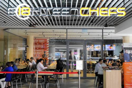 Eighteen Chefs restaurant at Our Tampines Hub in Singapore.
