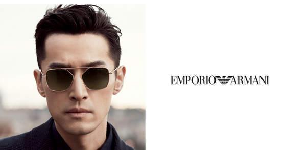 Emporio Armani eyewear with Hu Ge.