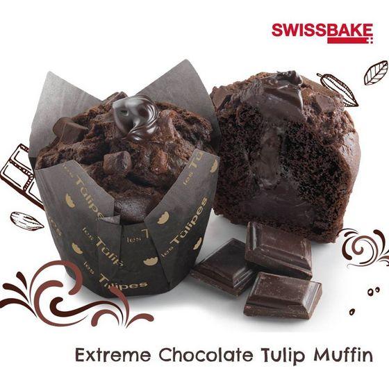 Extreme Chocolate Tulip Muffin.