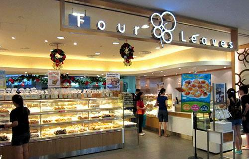 Four Leaves bakery store and cake shop at NEX mall in Singapore.