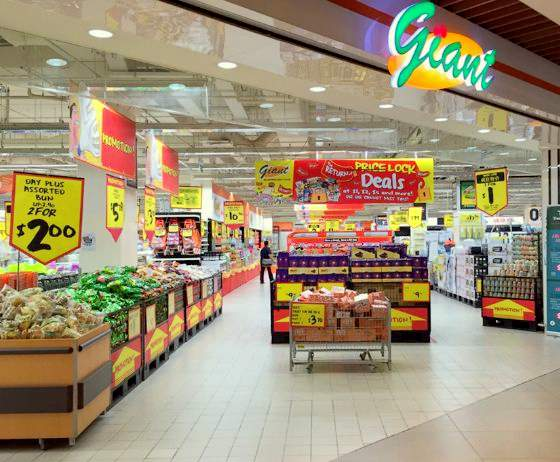 Giant hypermarkets in Singapore - Outlet at IMM.