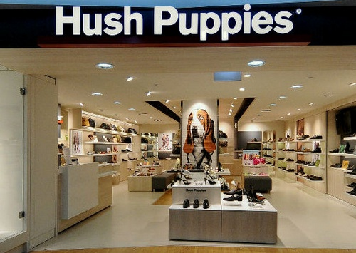 Hush Puppies shoe and bag store at Tampines Mall in Singapore.