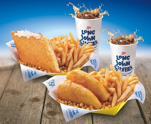 Long John Silver's seafood meals.