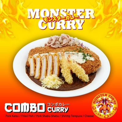 Monster Curry's Combo Curry meal.