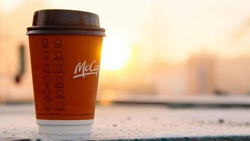McDonald's restaurants in Singapore - Morning coffee to-go from McCafe.