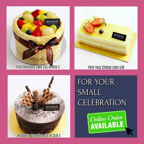 Rive Gauche Patisserie's pastries, available in Singapore.