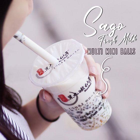 Sago Fresh Milk with Multi Mini Balls.