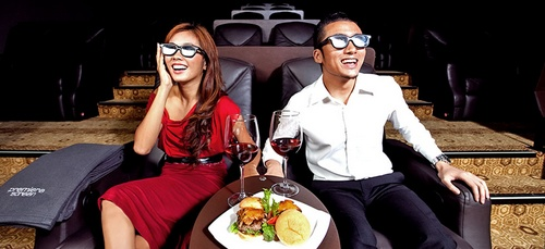 Shaw Theatres nex Premiere Screen moviegoing experience in Singapore.