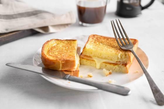 Starbucks Ham & Cheese Toast.