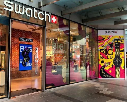 Swatch store at orchardgateway in Singapore.