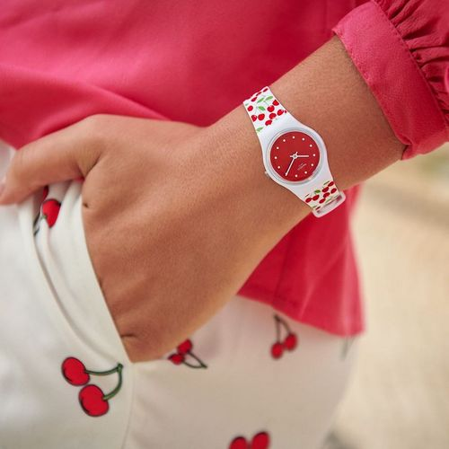 Swatch watch, available in Singapore.