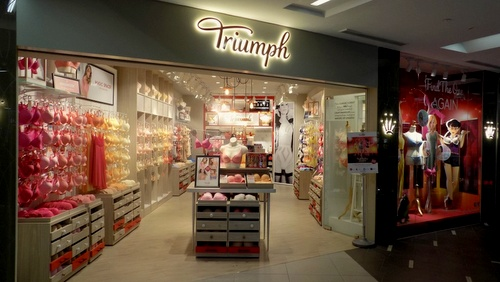 Triumph lingerie shop at NEX shopping centre in Singapore.