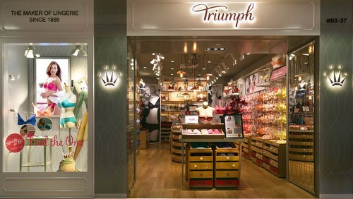 Triumph lingerie shop at ION Orchard mall in Singapore.