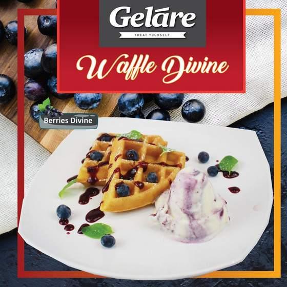 Geláre Berries Divine waffles.