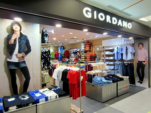 Giordano clothing store NEX Singapore.
