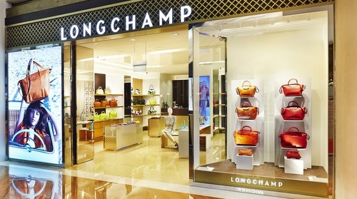 Longchamp shops in Singapore - Outlet at Marina Bay Sands.