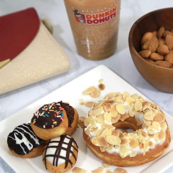 Munchkin bites and Almond White Choc Donut.