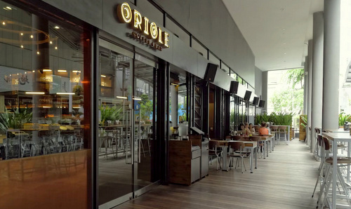 Oriole Coffee + Bar Singapore at Pan Pacific Serviced Suites.