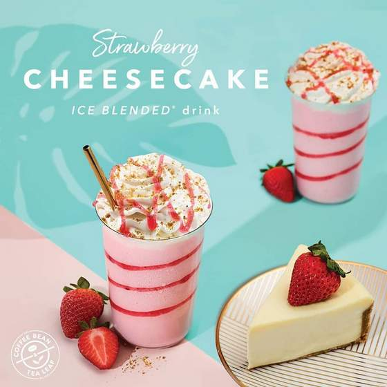 Strawberry Cheesecake Ice Blended drink.