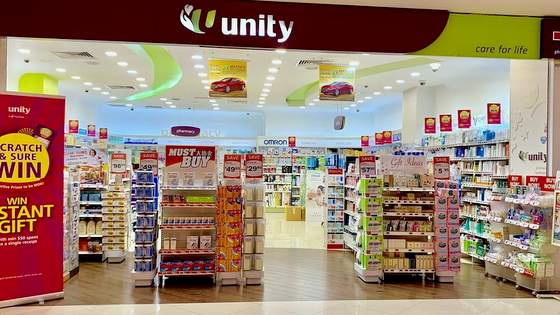 Unity outlets in Singapore - Shop at Lot 1.