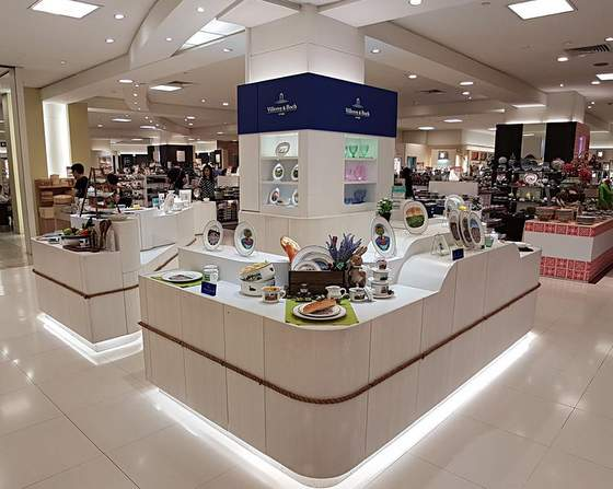 Villeroy & Boch shops Singapore - Outlet at Takashimaya Department Store.