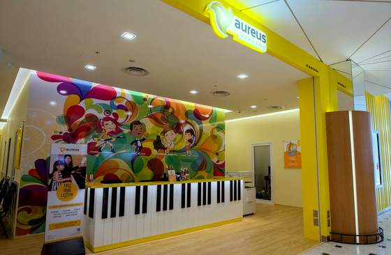 Aureus Academy music schools in Singapore - Outlet at at Jurong Point.