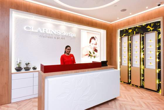 Clarins Skin Spa at ION Orchard, Singapore.
