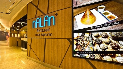 Nalan Indian vegetarian restaurant Capitol Piazza Singapore.