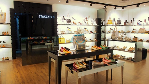 Staccato shops in Singapore - Shoe and bag store at Raffles City.