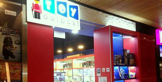 Toy Outpost shops in Singapore - Outlet at Plaza Singapura.