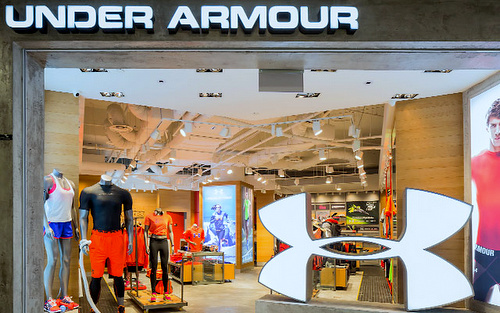 Under Armour shops in Singapore - Outlet at Tampines 1 mall.